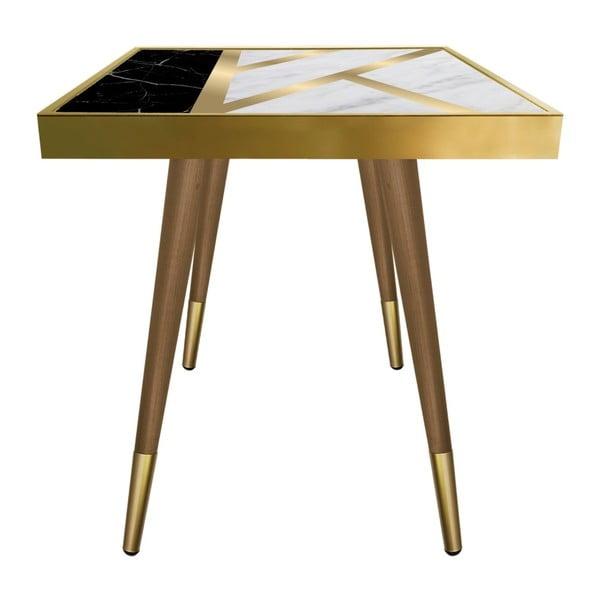 Príručný stolík Caresso Liny Marble Square, 45 × 45 cm