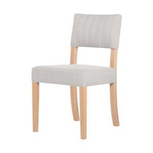 Krémová židle s hnědými nohami Ted Lapidus Maison Néroli