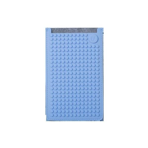 Univerzální velký obal na telefon PixelArt, grey/sky blue