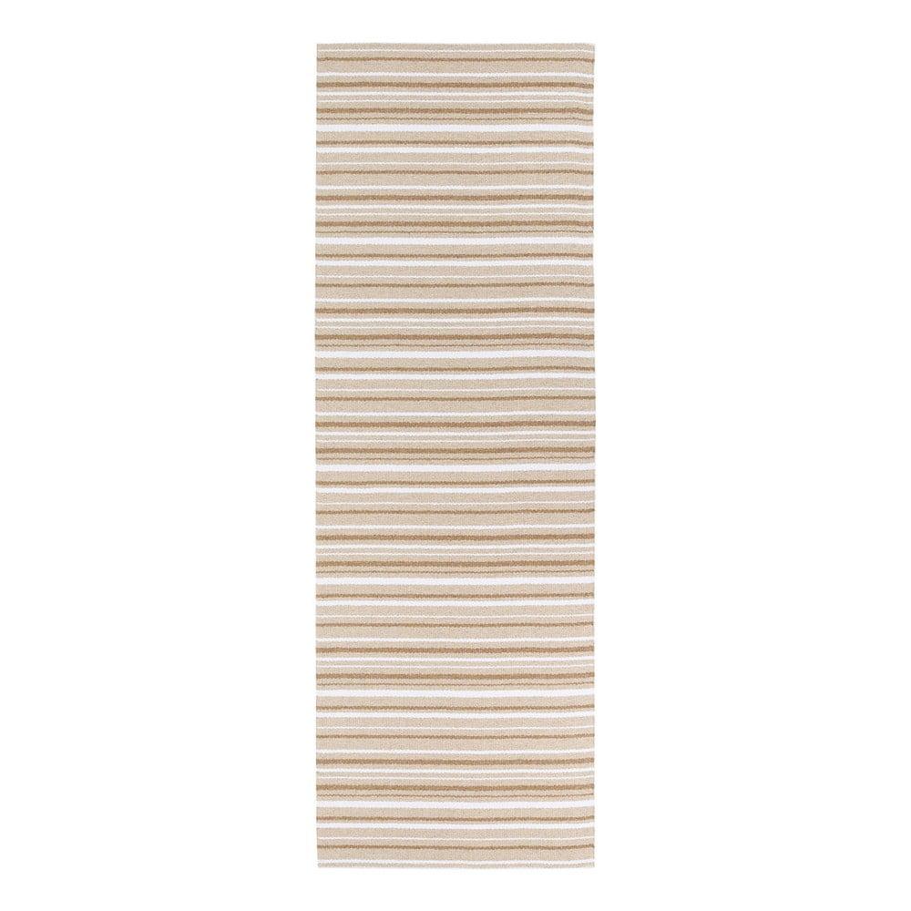 Hnědo-bílý koberec vhodný do exteriéru Narma Hullo, 70 x 100 cm