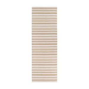 Covor potrivit pentru exterior Narma Hullo, 70 x 350 cm, maro - alb