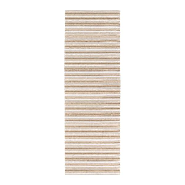 Hnědo-bílý běhoun vhodný do exteriéru Narma Hullo, 70x300cm
