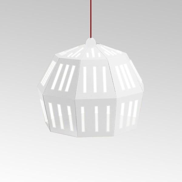 Kartonové svítidlo Uno Fantasia C White, s červeným kabelem