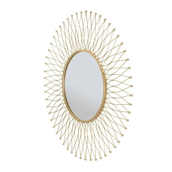 Nástěnné zrcadlo v železném rámu Mauro Ferretti Glam Ipnos, ⌀ 75 cm