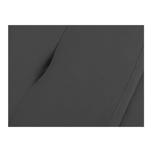 Ladă tapițată cu spațiu de depozitare Kooko Home, 47 x 180 cm, gri închis