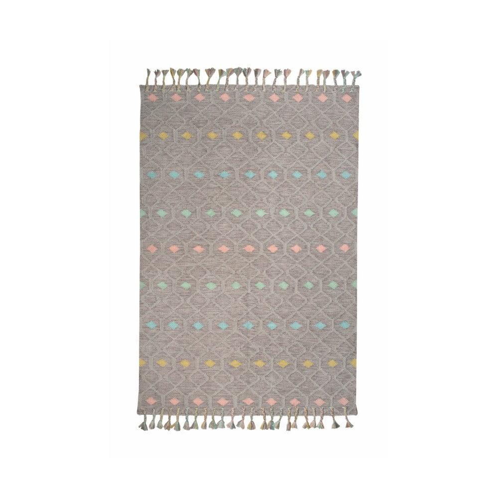 Dětský koberec z recyklovaného polyesteru vhodný do exteriéru Nattiot Dristy, 110 x 170 cm