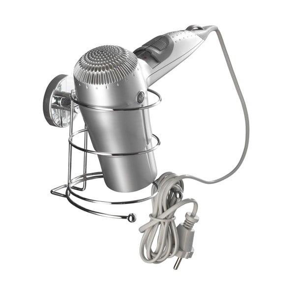 Suport pentru uscător de păr Wenko cu sistem de prindere Vacuum-Loc, până la 33 kg