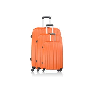 Sada 3 kufrů Integre Orange, 114 l/75 l/46 l