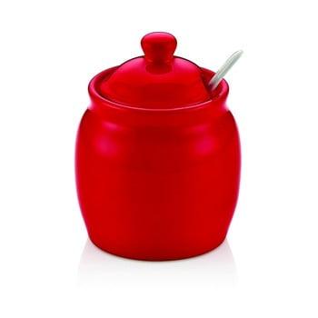 Recipient din porțelan cu capac pentru zahăr Vivianos, roșu imagine