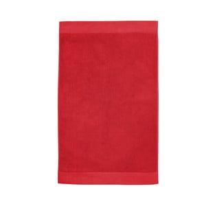 Červená koupelnová předložka Seahorse Pure, 50x90cm