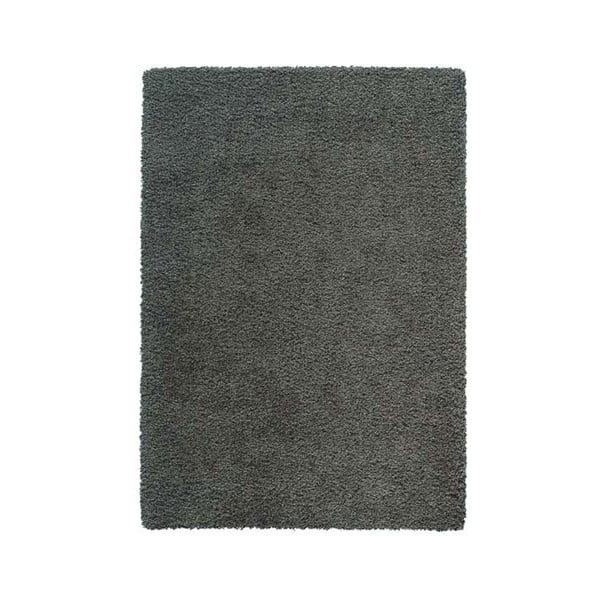 Koberec Super Shaggy 120x170 cm s 5 cm dlouhým vlasem, šedý