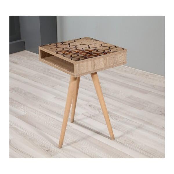 Odkládací stolek Zigon Geometry, 40 x 40 cm