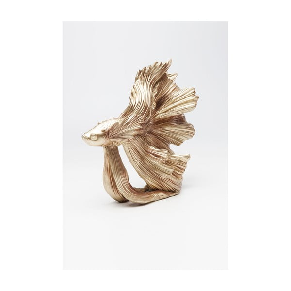 Statuetă decorativă Kare Design Betta Fish, auriu