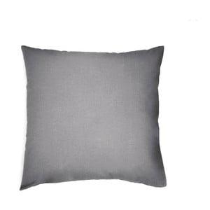 Tmavě šedý bavlněný povlak na polštář L'Officiel Interiors, 60x60cm