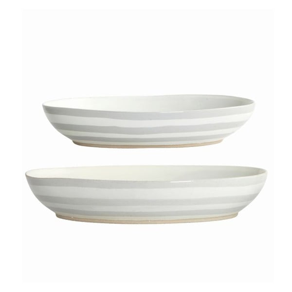 Set podnosů Gray Stripes, 2 ks