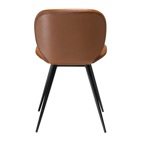Hnědá koženková židle DAN-FORM Denmark Cloud