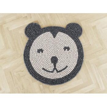 Covor cu bile din lână pentru camera copiilor Wooldot Ball Rugs Bear, ⌀ 90 cm