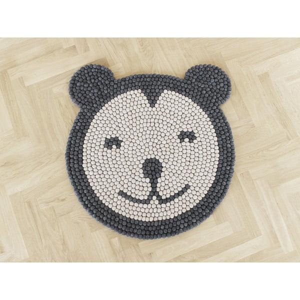 Detský guľôčkový vlnený koberec Wooldot Ball rugs Bear, ⌀ 90 cm