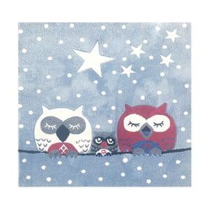 Dětský koberec Happy Rugs Owl Family, 140x140cm