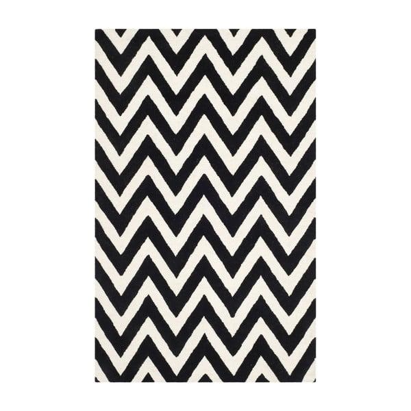 Vlněný koberec Stella 152x243 cm, černý
