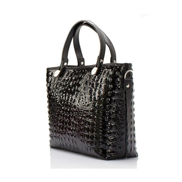 Černá kožená kabelka Massimo Castelli Adalgisa