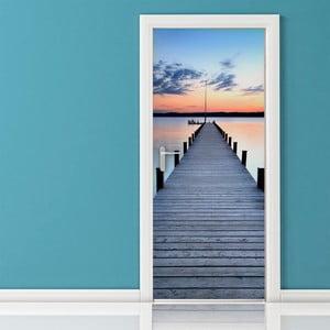 Adhezivní samolepka na dveře Ambiance Pontoon On The Beach, 83 x 204 cm