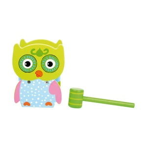 Dětská dřevěná hra s kladivem Legler Hammer Bench Owl