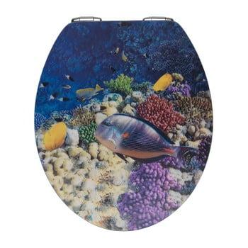 Capac WC din lemn 3D Wenko Bellevue, 44,5 x 38 cm imagine