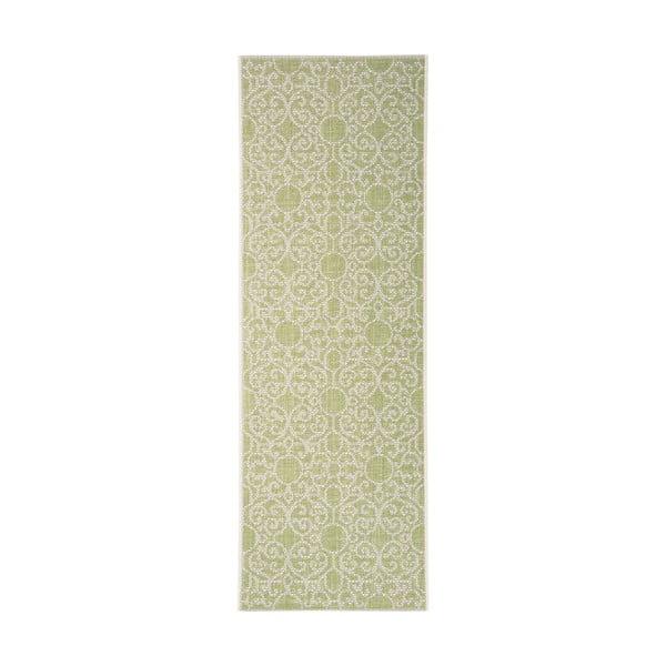 Covor potrivit pentru exterior Bougari Nebo, 70 x 200 cm, verde - bej
