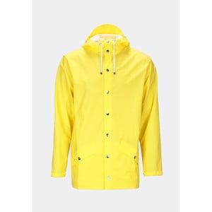 Žlutá unisex bunda s vysokou voděodolností Rains Jacket, velikost XXS/XS
