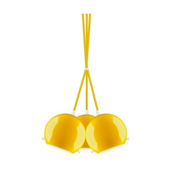 Tři světla Sotto Luce MYOO Elementary, lesklá žlutá/žlutá/bílá