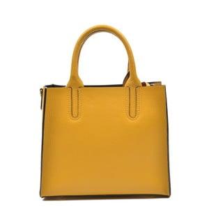 Žlutá kožená kabelka Mangotti Erica