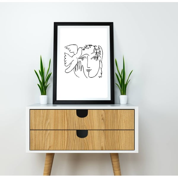 Line Drawing Picasso III poszter, 30 x 40 cm - Blue-Shaker