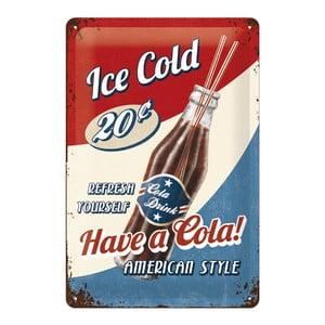 Retro plechová cedule Ice Cold, 20x30 cm