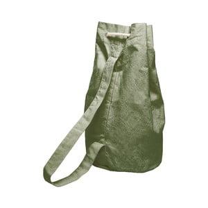 Jednoduchý látkový vak Linen Couture Green Moss, šířka 40 cm
