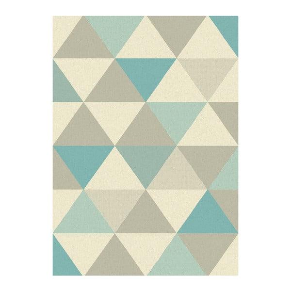 Koberec Asiatic Carpets Focus Triangles Blue, 80x150 cm