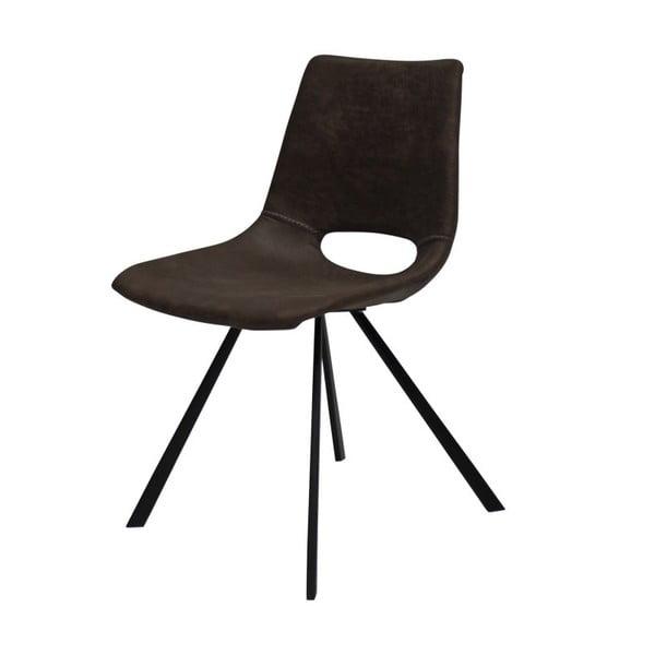 Hnědá jídelní židle s černým podnožím Canett Coronas