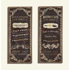 Nástěnná dekorace Bistro Café, 2 ks
