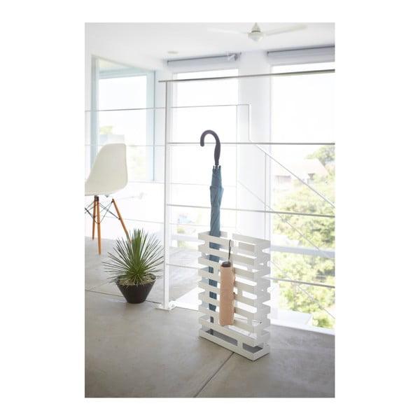 Bílý stojan na deštníky YAMAZAKI Brick, šířka30cm