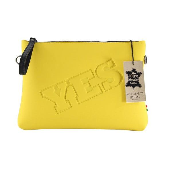 Neoprenové psaníčko Yes/No, žluté