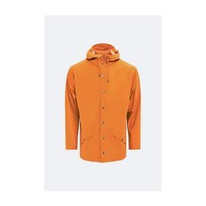Oranžová unisex bunda s vysokou voděodolností Rains Jacket, velikost L/XL
