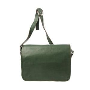 Zelená kožená kabelka Tina Panicucci Stylo