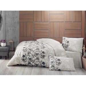 Lenjerie de pat cu cearșaf Lena Grey, 200 x 220 cm