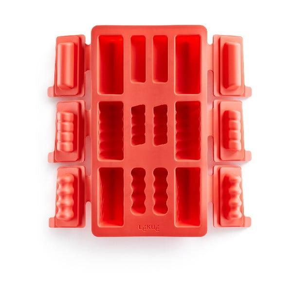 Červená silikonová forma na mini rolády Lékué Square