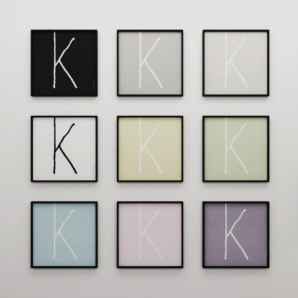 Plakát Litera K, 50x50 cm