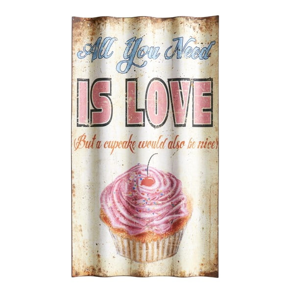 Cedule All you need is love, 66x37 cm