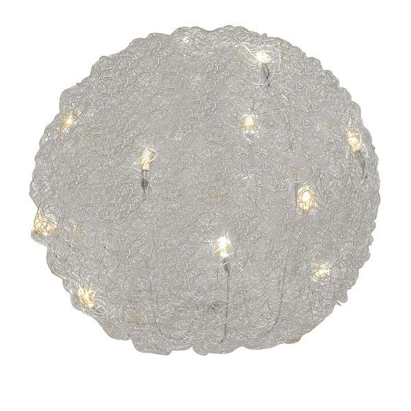 Stolní lampa Almni 30 cm, stříbrná
