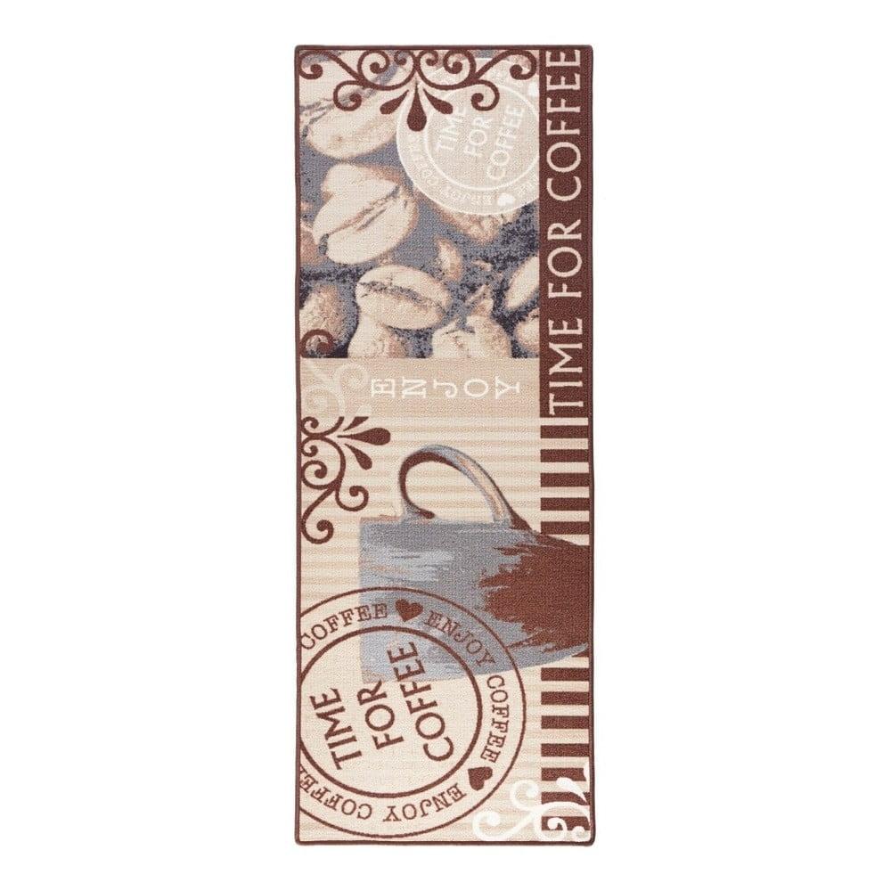Hnědý kuchyňský běhoun Zala Living CoffeTime, 67x180cm