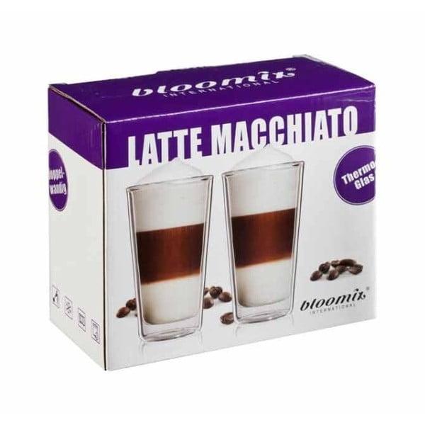 Sada 2 sklenic na latte macchiato bloomix Milano