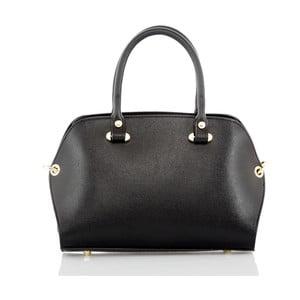 Černá kožená kabelka Glorious Black Grazia